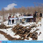 اعتراض اعضای انجمن سبز چیا به تخریب جنگل ها